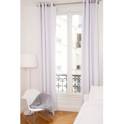 White 100% Total Blackout Curtain Washed Linen MC720 Moondream Premium