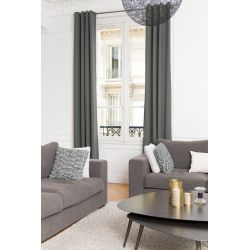 Dark Grey 100% Total Blackout Curtain Brushed Linen MC713 Moondream Premium