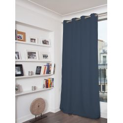 Blue Fire retardant Blackout Curtain MC458