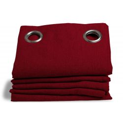 Deep Red Crepe de chine Dim-out Curtain Dune MC330
