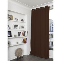Brown Linen effect Dim-out Curtain Country Baby MC54