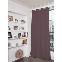 Purple Cotton pique effect Blackout Curtain MC52