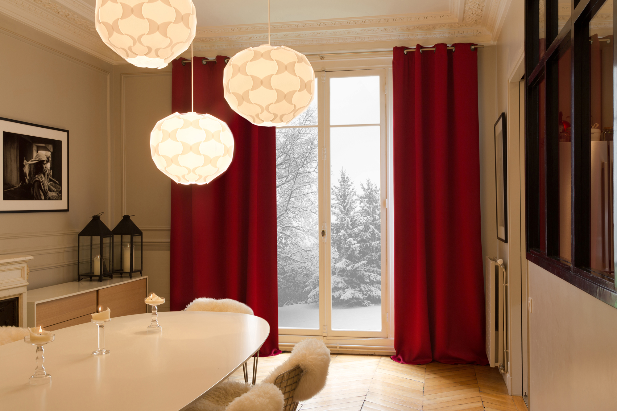 Thermal insulated curtain: red thermal curtains